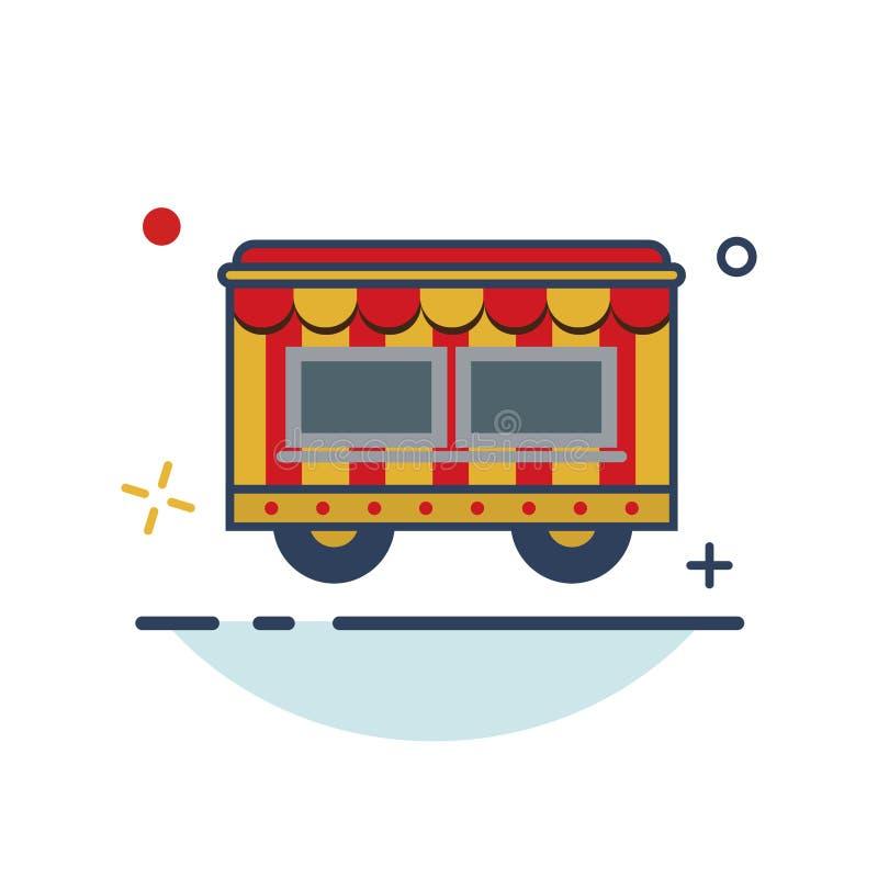 Icône de tente de carnaval - avec le style rempli par contour illustration libre de droits