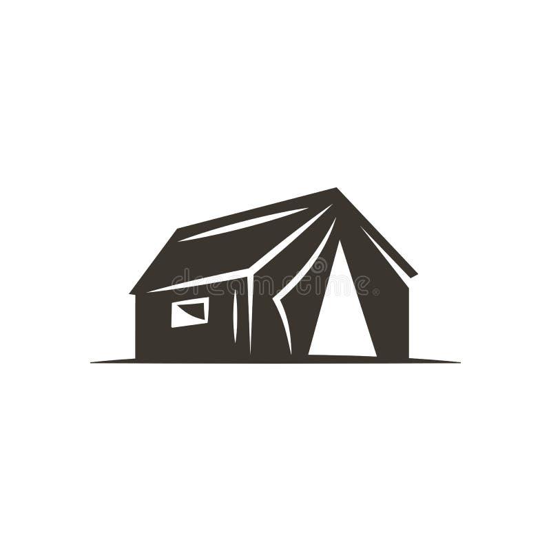 Icône de tente d'isolement sur le fond blanc Symbole solide d'aventure Conception monochrome Utilisation pour la création de logo illustration de vecteur