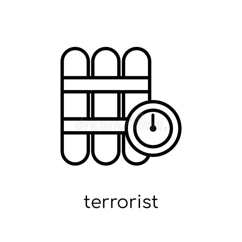 Icône de terroriste  illustration libre de droits