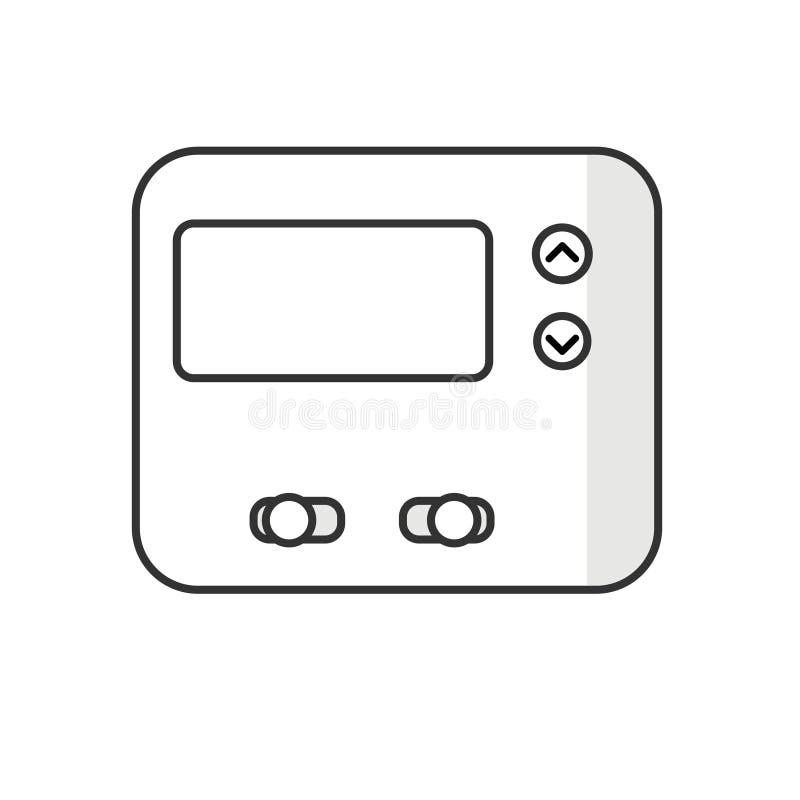 Icône de thermostat d'isolement sur le blanc illustration de vecteur