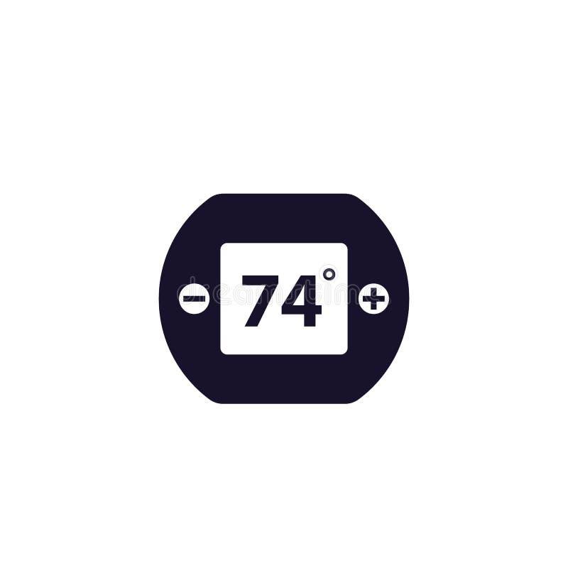 Icône de thermostat de Digital illustration libre de droits
