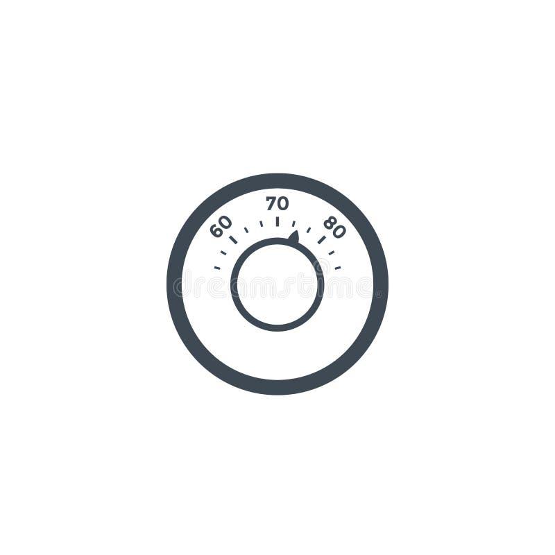 Icône de thermostat sur le blanc illustration libre de droits