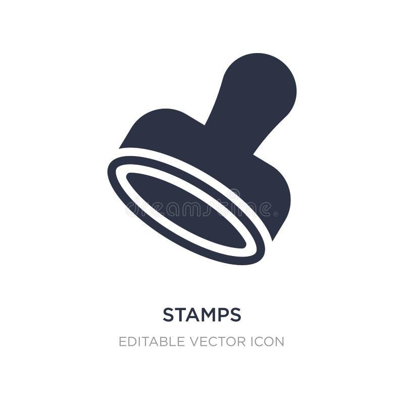 icône de timbres sur le fond blanc Illustration simple d'élément de concept de commercialisation de médias sociaux illustration stock