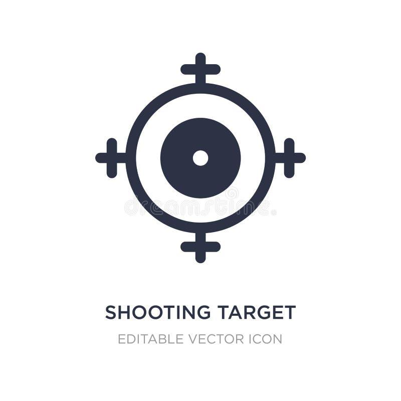 icône de tir de cible sur le fond blanc Illustration simple d'élément de concept d'armes illustration stock