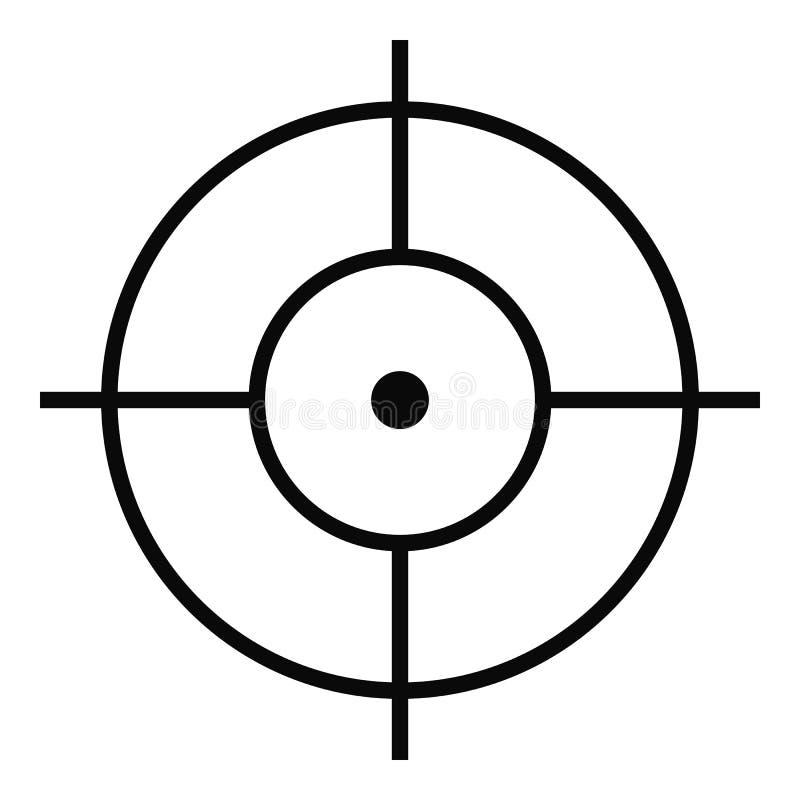 Icône de tir, style simple illustration libre de droits