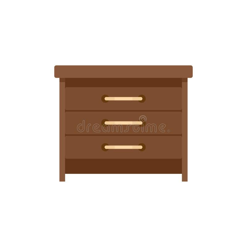 Icône de tiroirs, style plat illustration stock