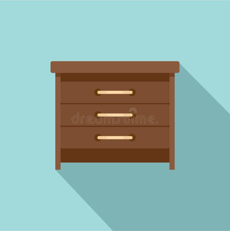 Icône de tiroirs, style plat illustration de vecteur