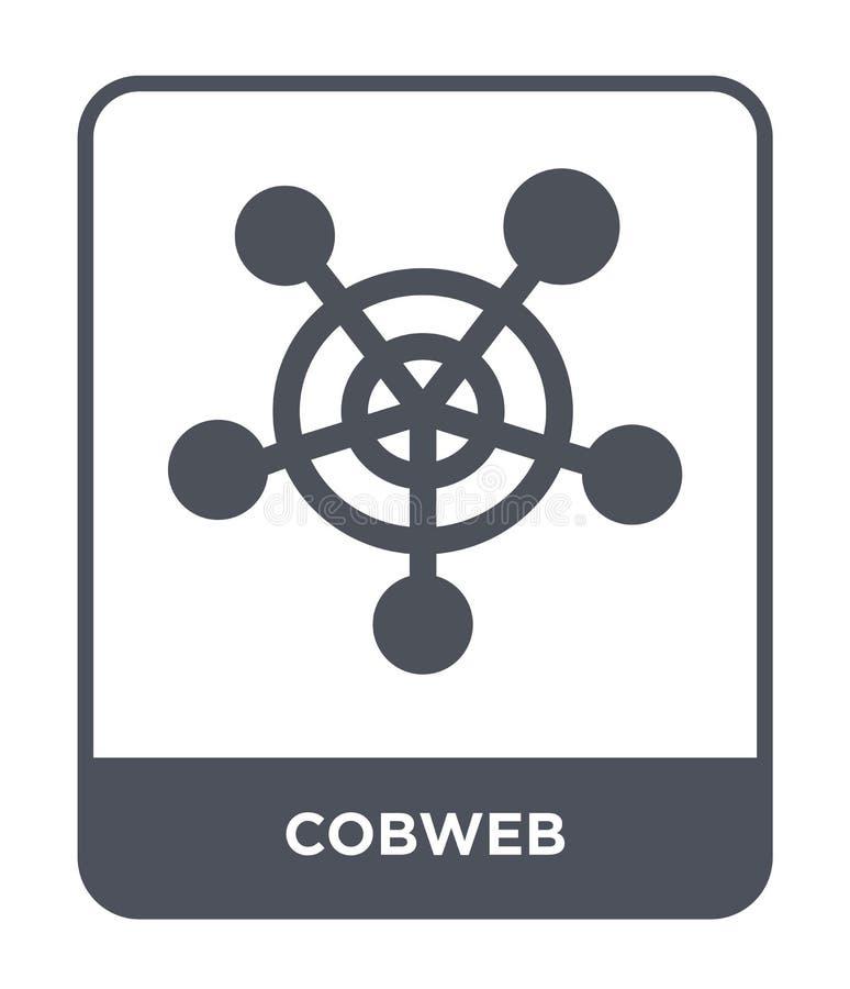 icône de toile d'araignée dans le style à la mode de conception Icône de toile d'araignée d'isolement sur le fond blanc symbole p illustration libre de droits
