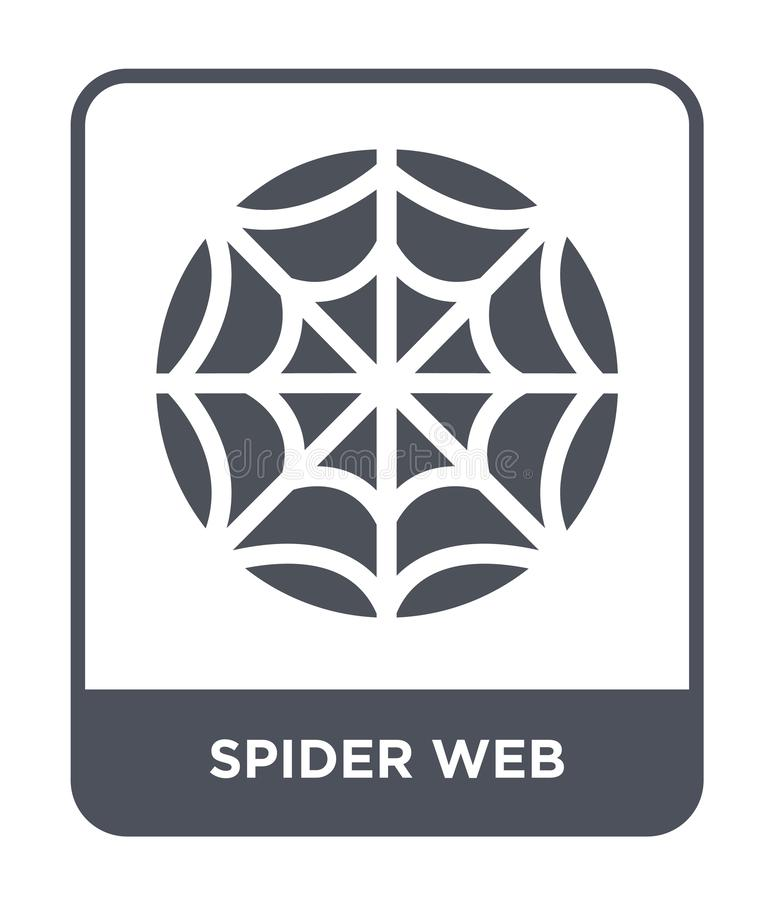 icône de toile d'araignée dans le style à la mode de conception icône de toile d'araignée d'isolement sur le fond blanc icône de  illustration stock