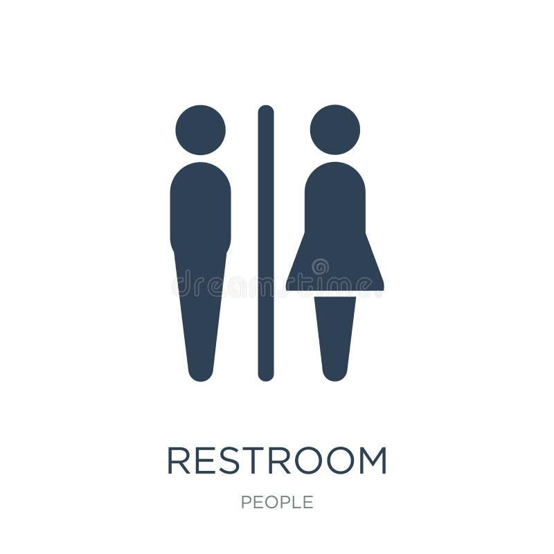 icône de toilettes dans le style à la mode de conception icône de toilettes d'isolement sur le fond blanc appartement simple et m illustration de vecteur