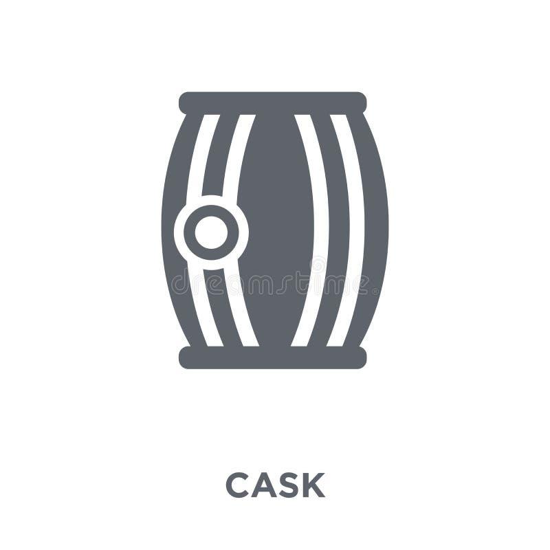 Icône de tonneau de collection de boissons illustration de vecteur