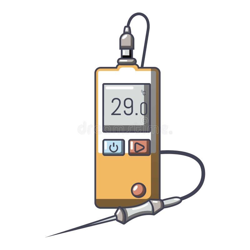 Icône de tonometer de Digital, style de bande dessinée illustration stock