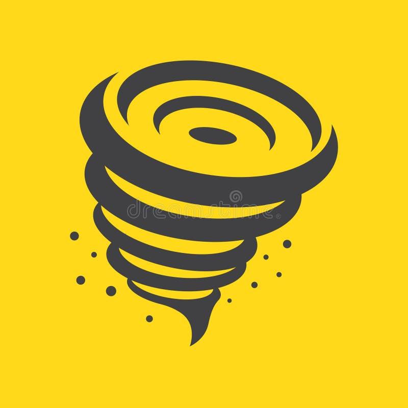 Icône de tornade, illustration de vecteur illustration stock