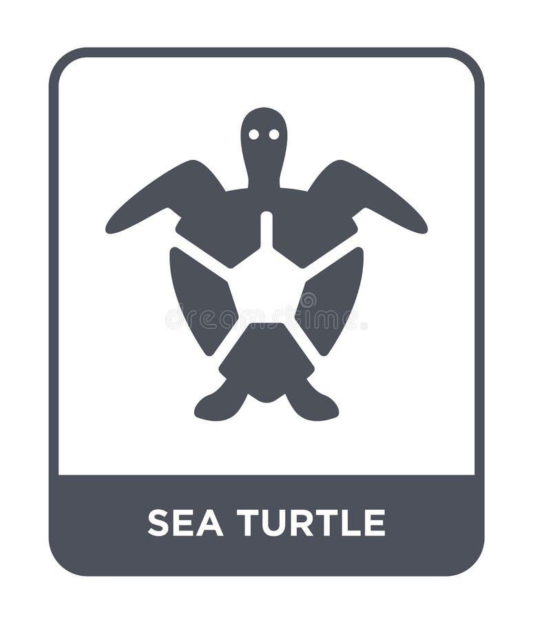 icône de tortue de mer dans le style à la mode de conception icône de tortue de mer d'isolement sur le fond blanc icône de vecteu illustration de vecteur
