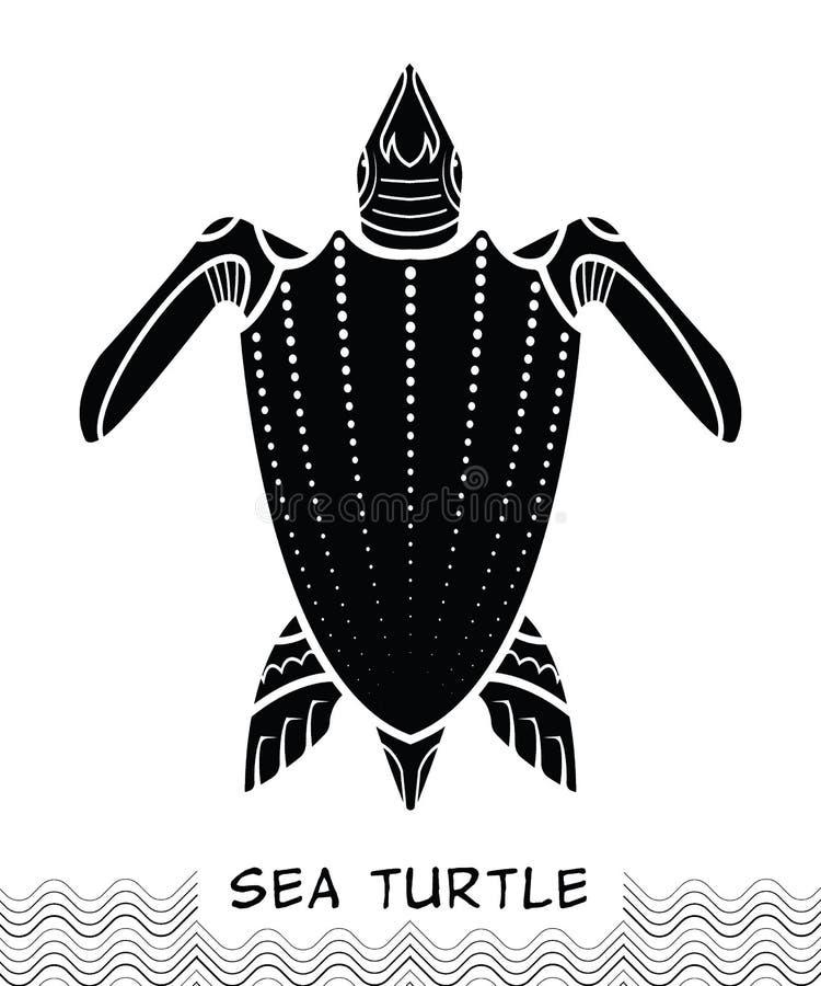 Icône 03 de tortue de mer illustration libre de droits