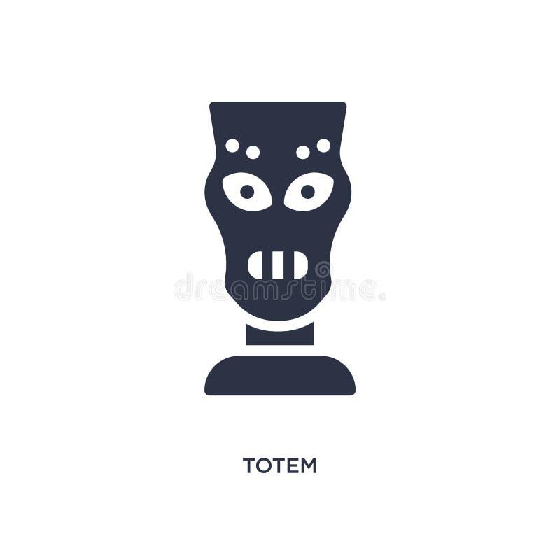 icône de totem sur le fond blanc Illustration simple d'élément de concept d'âge de pierre illustration de vecteur