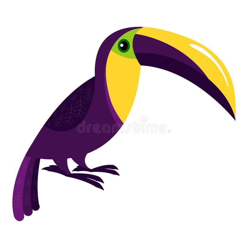 Icône de toucan de plume, style de bande dessinée illustration libre de droits