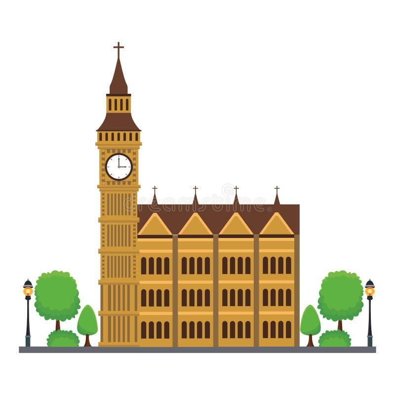 Icône de tour de Big Ben illustration de vecteur