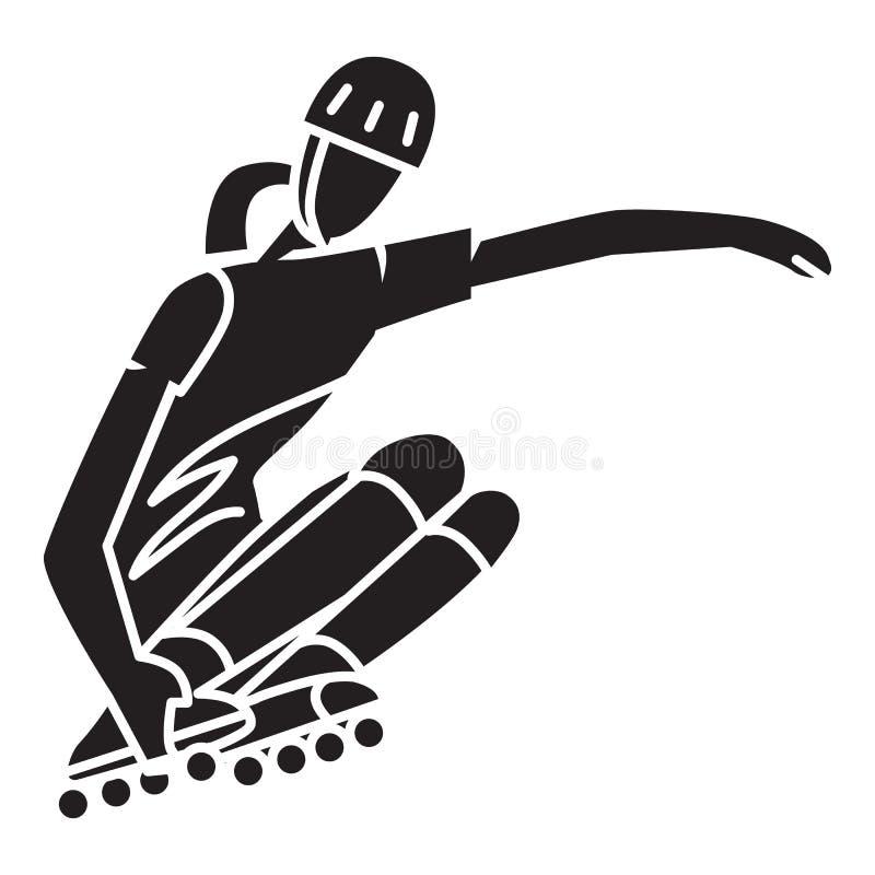 Icône de tour de rouleau, style simple illustration stock