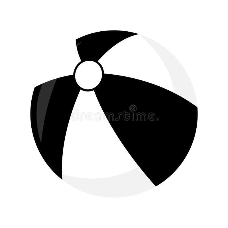 Icône de Toy Isolated de boule Type simple Illustration de vecteur illustration de vecteur