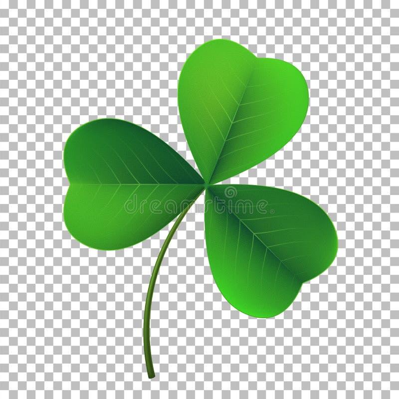 Icône de trèfle d'oxalide petite oseille de trois-feuille de vecteur Symbole fower-poussé des feuilles chanceux de jour irlandais illustration de vecteur