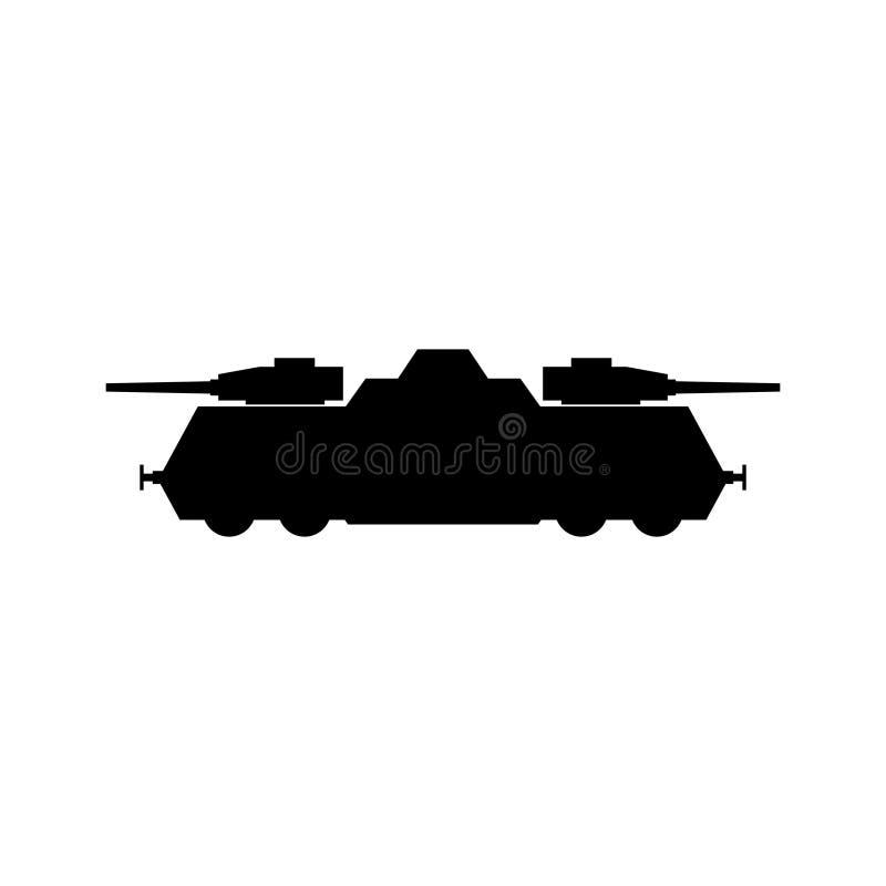 Icône de train blindé illustration stock