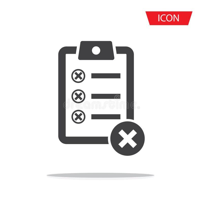 Icône de trait de repère d'icône de presse-papiers de liste de contrôle photos libres de droits