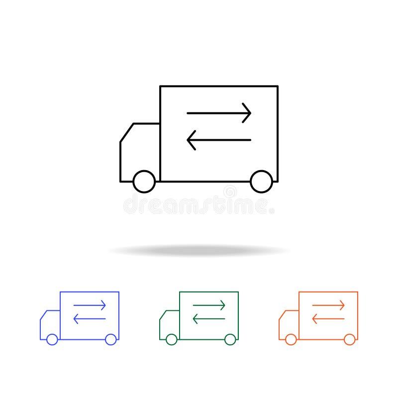 Icône de transport de cargaison Éléments des immobiliers dans les icônes colorées multi Icône de la meilleure qualité de concepti illustration libre de droits