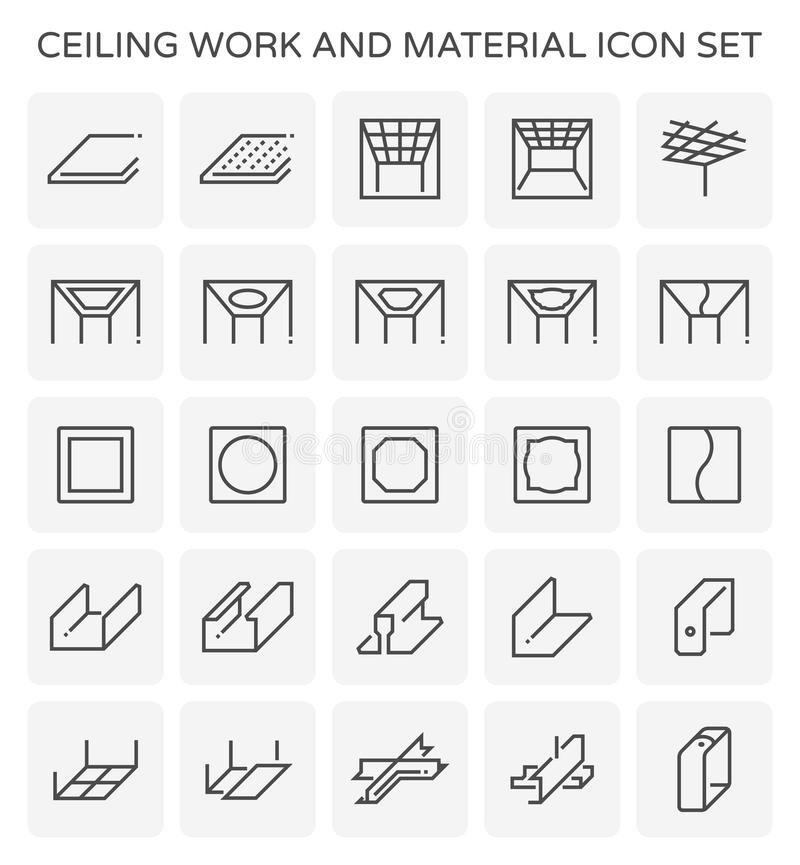 Icône de travail de plafond illustration libre de droits