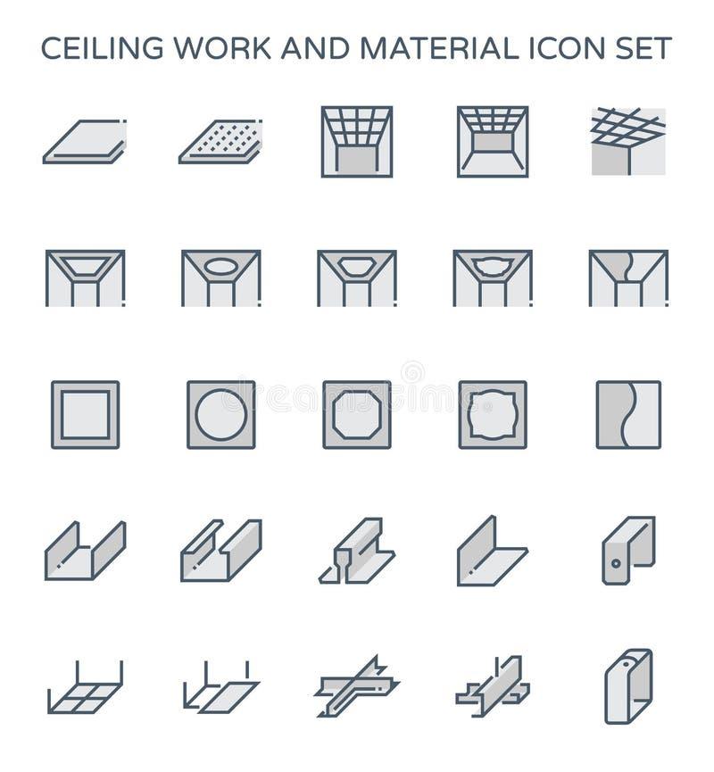 Icône de travail de plafond illustration de vecteur