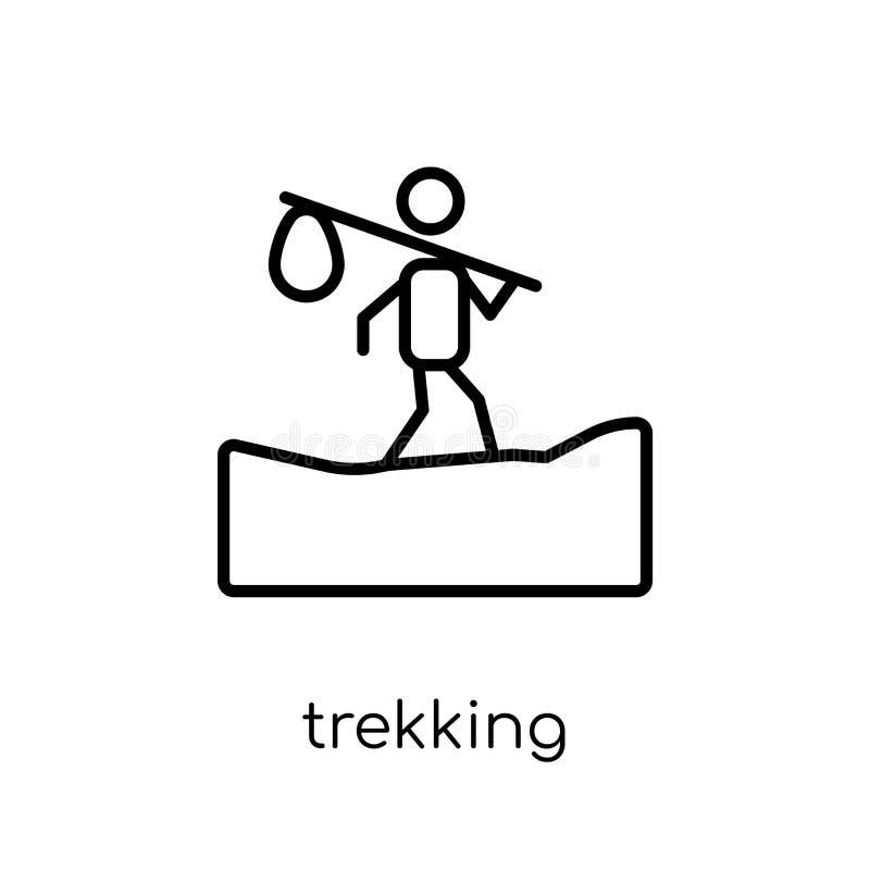 Icône de trekking de la collection campante illustration de vecteur