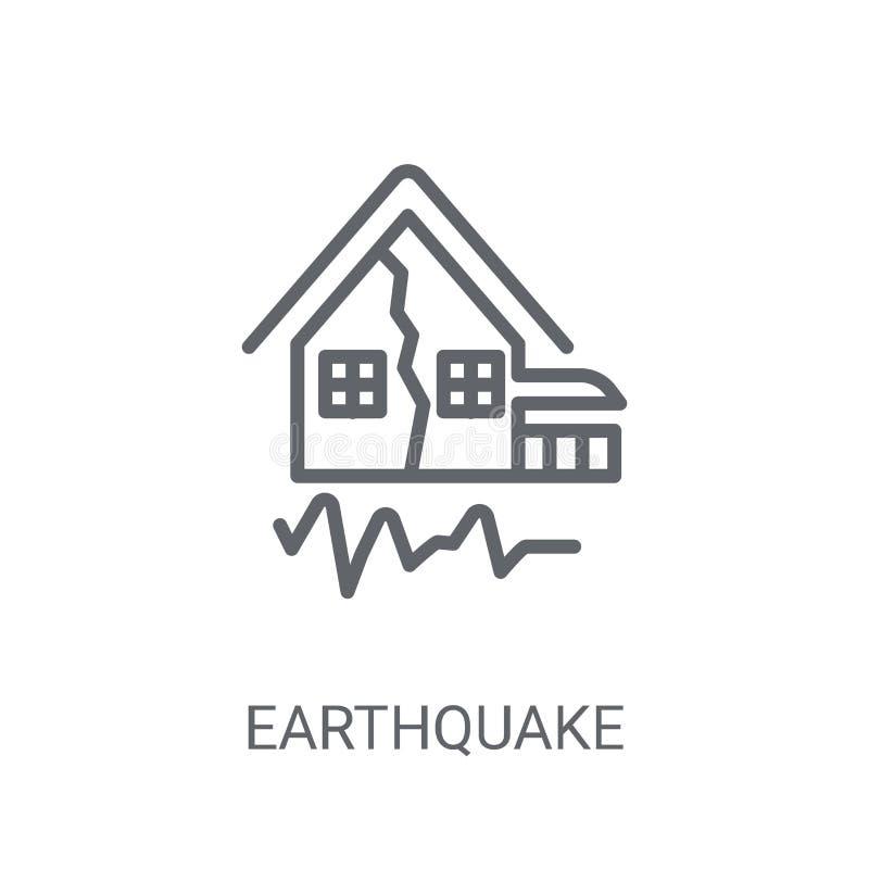 Icône de tremblement de terre Concept à la mode de logo de tremblement de terre sur le backgro blanc illustration stock