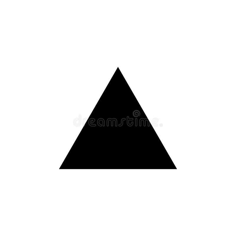 Icône de triangle équilaterale Éléments de chiffre géométrique icône pour des apps de concept et de Web Icône d'illustration pour illustration libre de droits