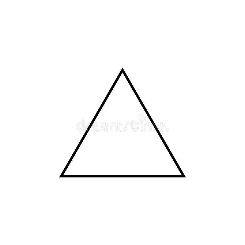 Icône de triangle équilaterale Chiffre géométrique élément pour les apps mobiles de concept et de Web Ligne mince icône pour la c illustration libre de droits