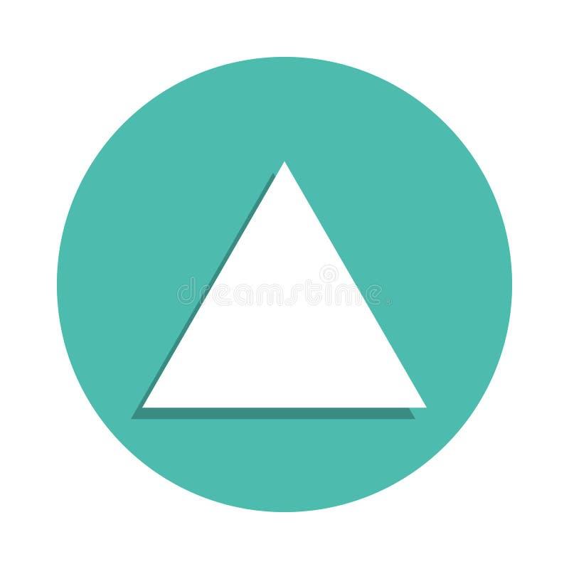 Icône de triangle équilaterale E Icône simple pour des sites Web, web design, APP mobile, dedans illustration de vecteur