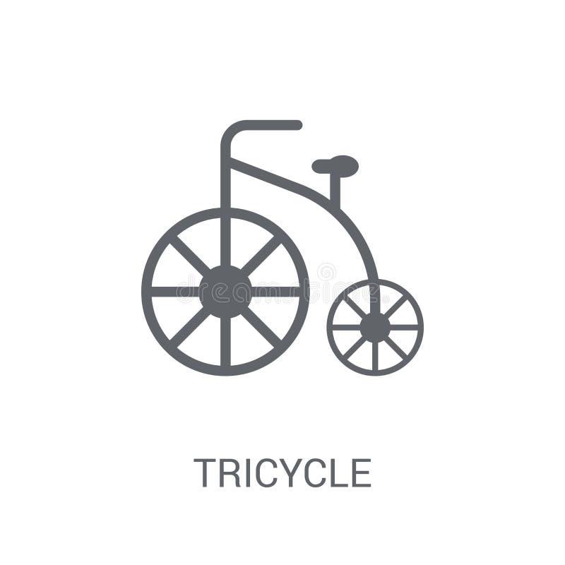 Icône de tricycle  illustration de vecteur