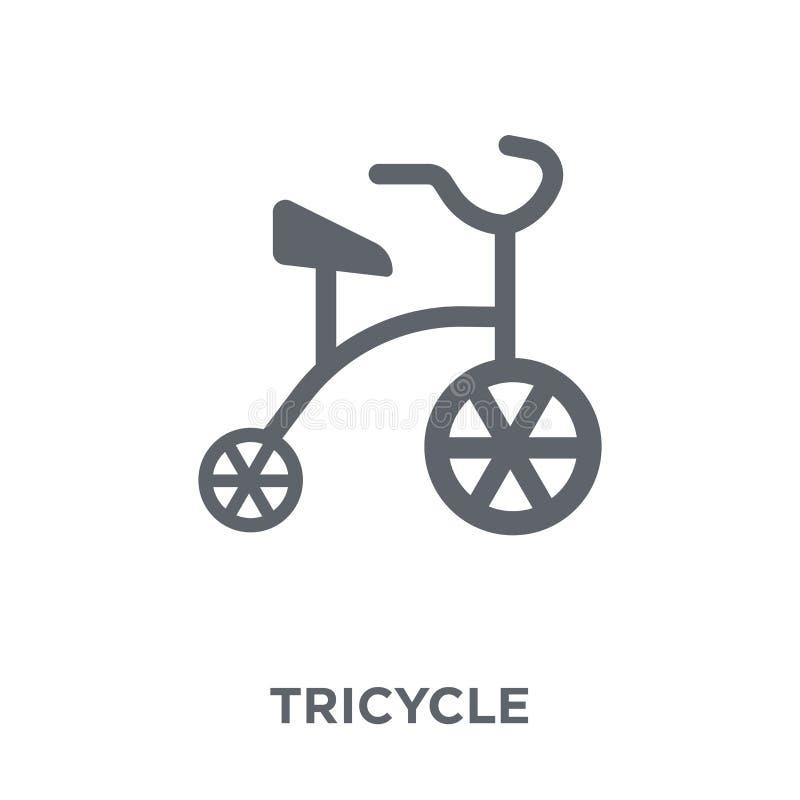 Icône de tricycle de collection de cirque illustration libre de droits