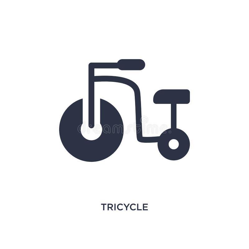 icône de tricycle sur le fond blanc Illustration simple d'élément de concept d'enfant et de bébé illustration de vecteur