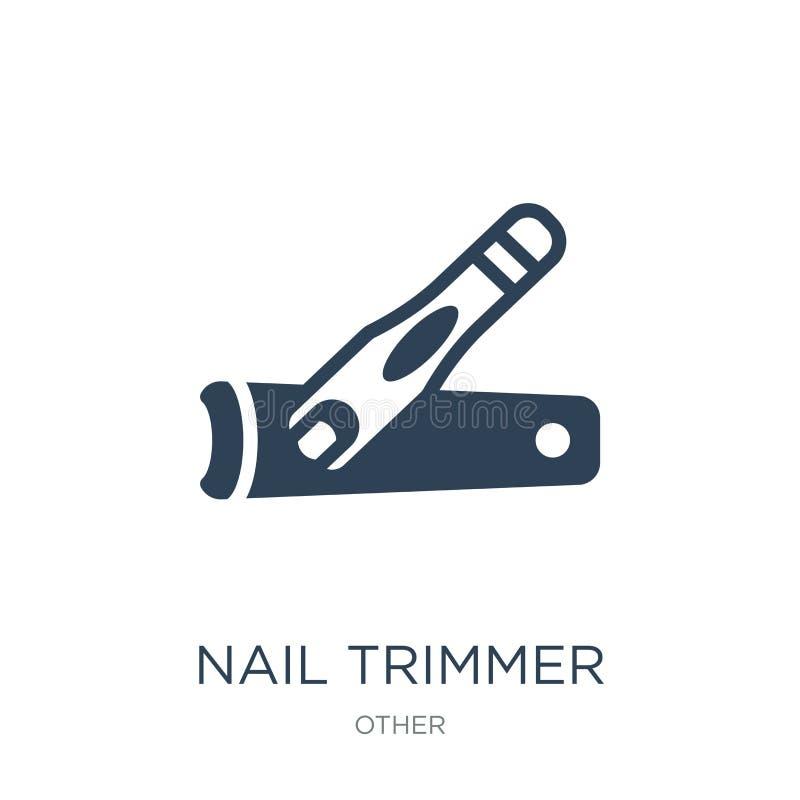 icône de trimmer de clou dans le style à la mode de conception icône de trimmer de clou d'isolement sur le fond blanc icône de ve illustration libre de droits