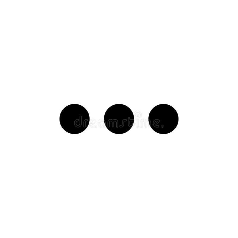Icône de trois points Élément d'icône minimalistic pour les apps mobiles de concept et de Web Signes et icône de collection de sy illustration de vecteur