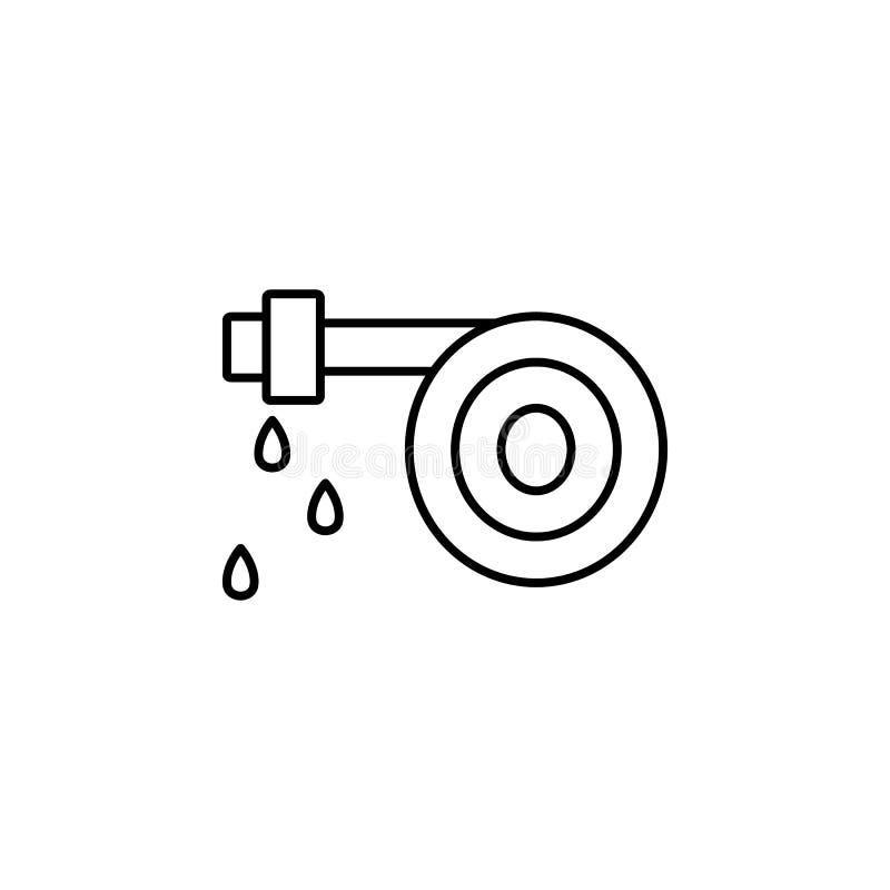 Icône de tuyau d'incendie Élément d'icône de arrosage d'égouttement pour les apps mobiles de concept et de Web La ligne mince icô illustration libre de droits