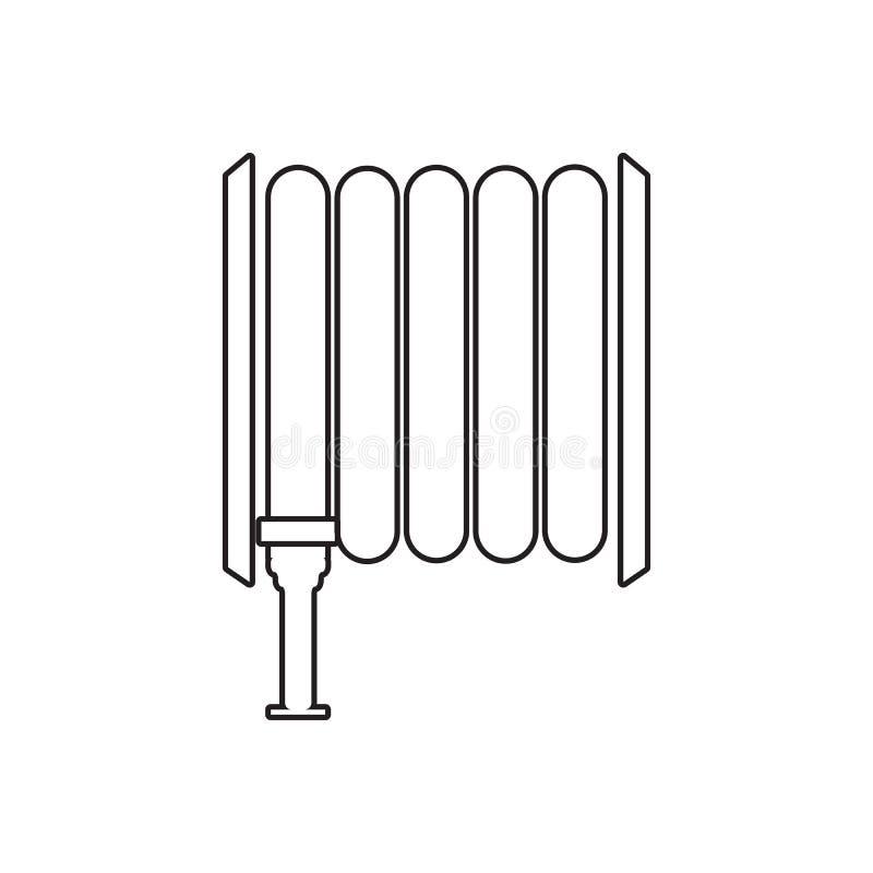 Icône de tuyau d'incendie Élément de concept de guardfor du feu et d'icône mobiles d'applis de Web Contour, ligne mince icône pou illustration de vecteur