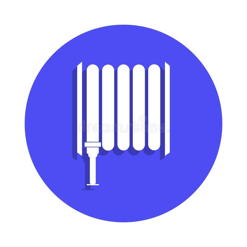 Icône de tuyau d'incendie dans le style d'insigne Un de l'icône de collection de garde du feu peut être employé pour UI, UX illustration stock