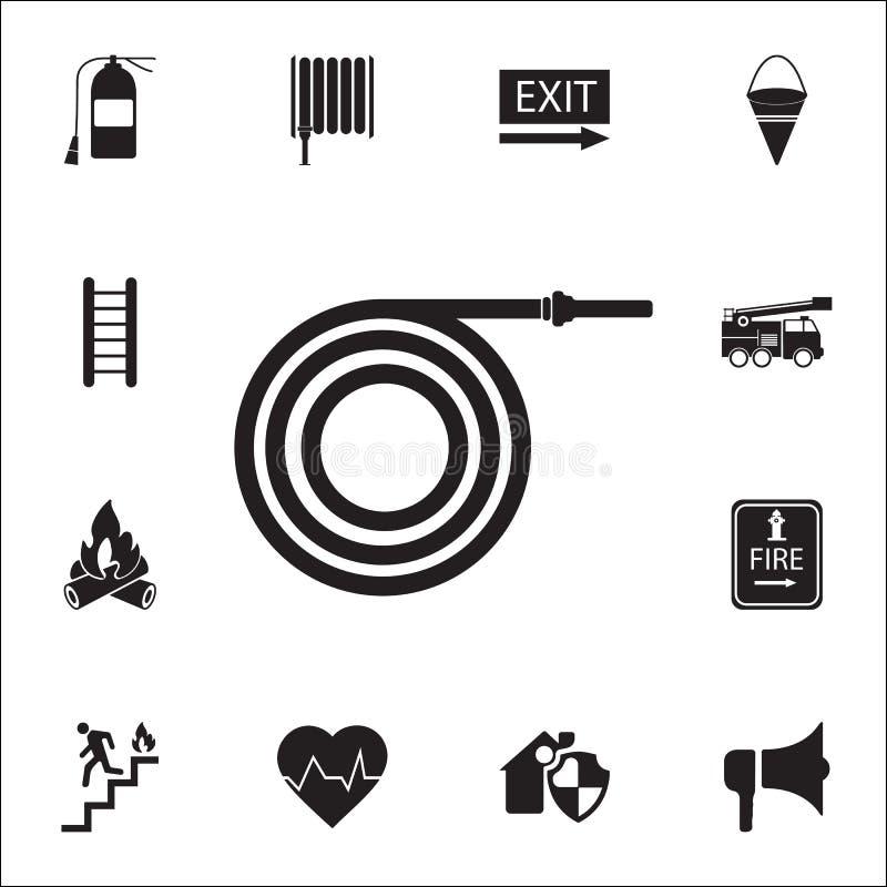 Icône de tuyau d'incendie Ensemble détaillé d'icônes de garde du feu Signe de la meilleure qualité de conception graphique de qua illustration stock