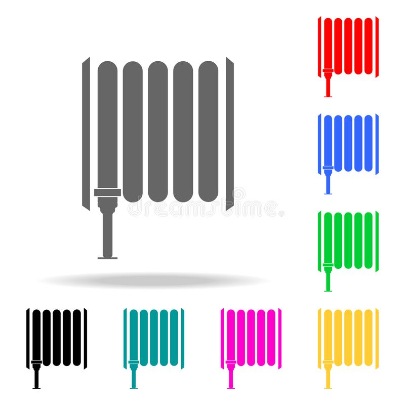 Icône de tuyau d'incendie Icônes colorées multi de sapeurs-pompiers d'élément pour les apps mobiles de concept et de Web Icône po illustration libre de droits