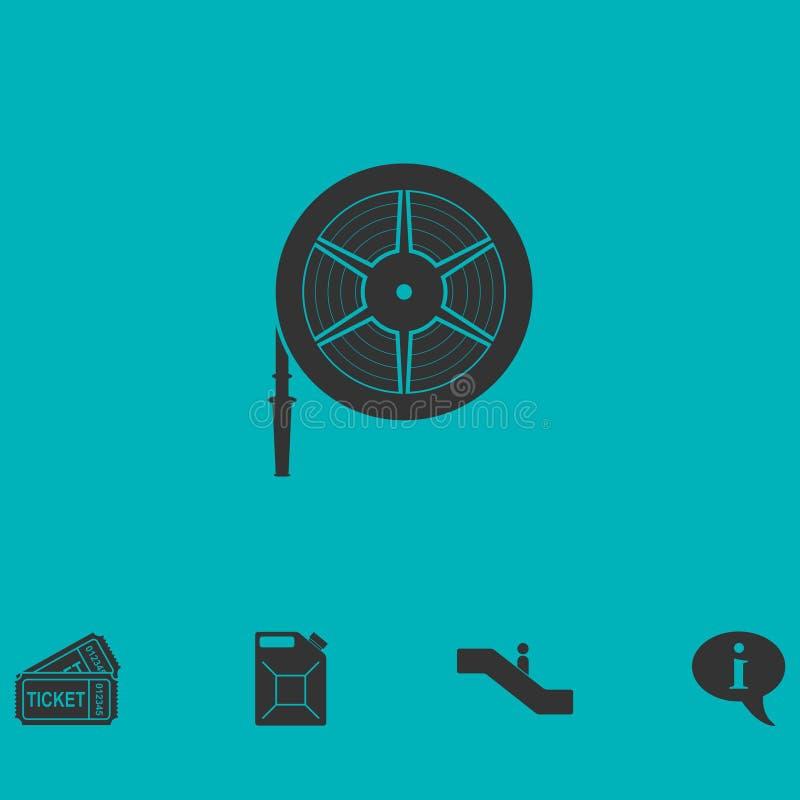 Icône de tuyau de l'eau à plat illustration libre de droits
