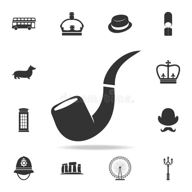 Icône de tuyau de tabac Ensemble détaillé d'icônes de culture du Royaume-Uni Conception graphique de qualité de la meilleure qual illustration libre de droits