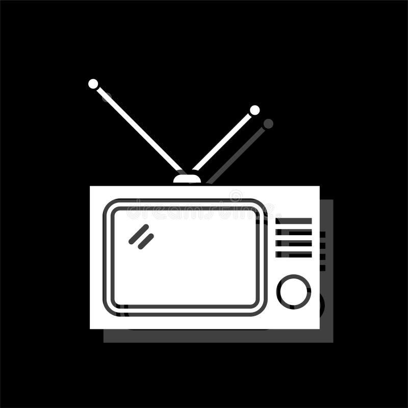 Icône de TV plate illustration de vecteur