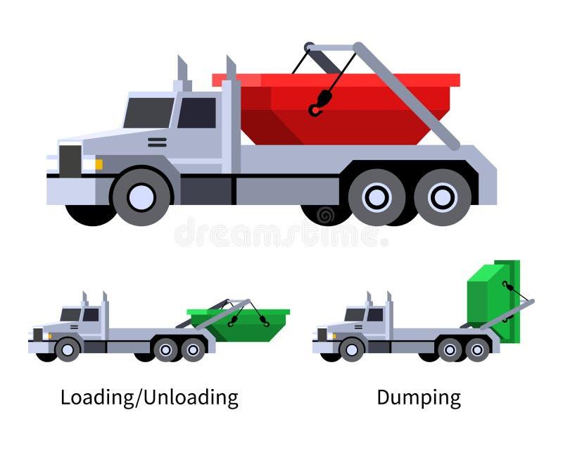 Icône de véhicule de camion de lougre illustration stock