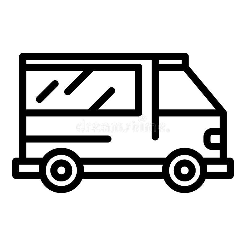 Icône de véhicule d'ambulance, style d'ensemble illustration de vecteur
